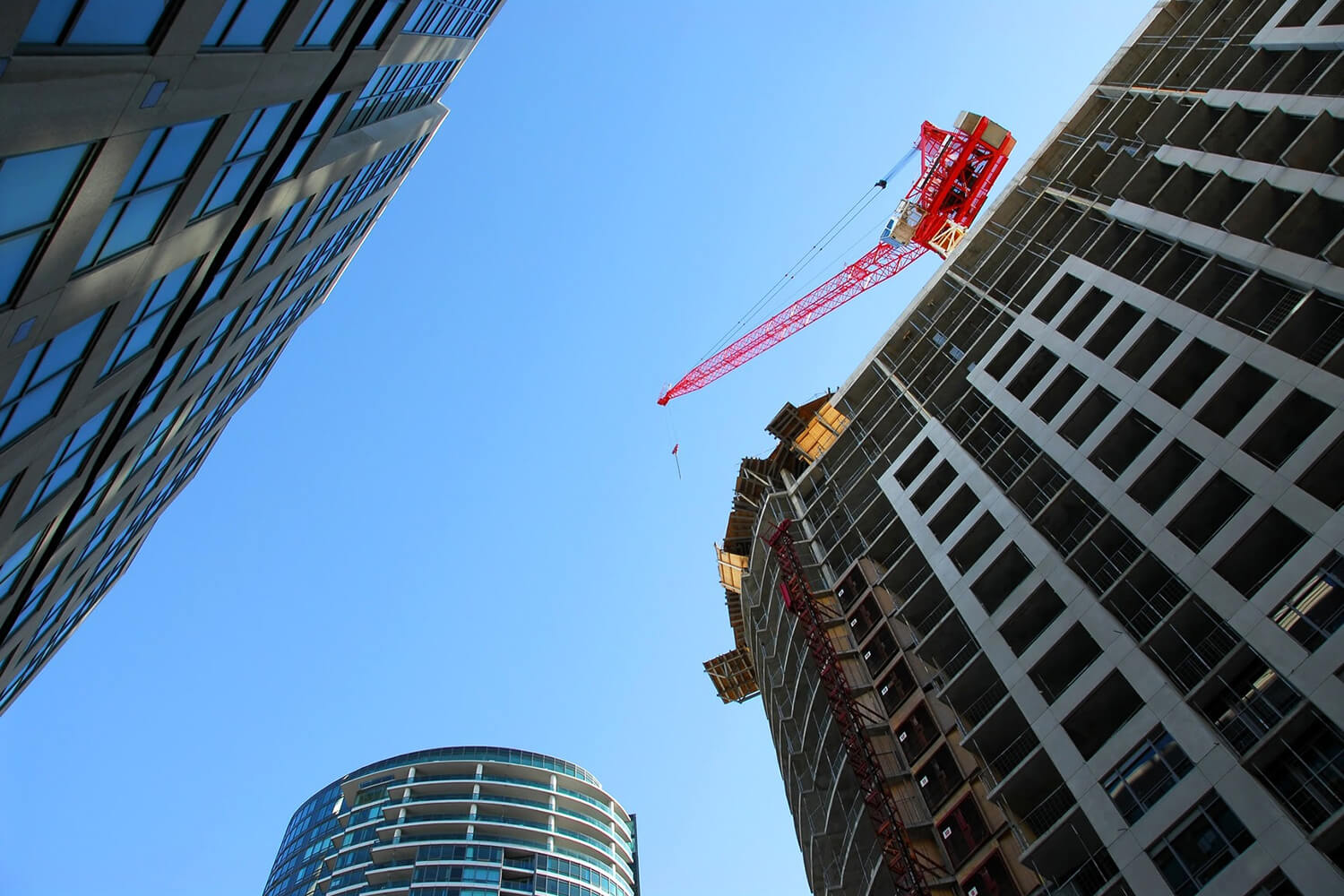 Building with crane