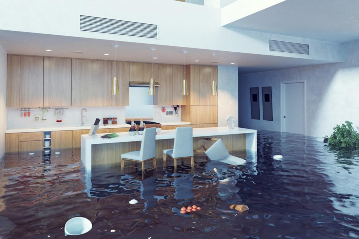 Have kitchen water damage?